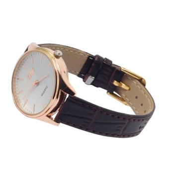 JIS 1023 Simple Petite Leather Watch (Gold) #0127 - 2
