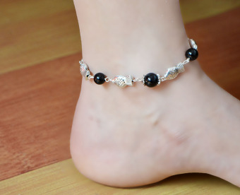 Jl012 versatile national style jewelry Tibetan silver fish anklets Price Philippines