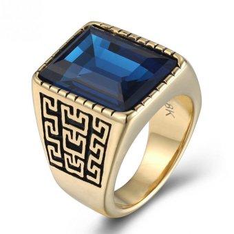 JOY 18 k gold man ring pattern ring - 3
