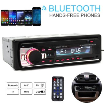 JSD-520 12V Bluetooth Car Radio Remote Controlled MP3 Audio PlayerSupport FM Aux Input Receiver SD USB MP3 - intl Price Philippines