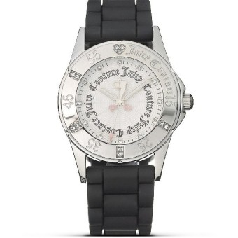 Juicy Couture RICHGIRL BLACK SILVER Silicone Strap Watch