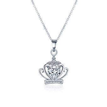 Just Gift Crown Pendant Necklace 1052 ( Silver )