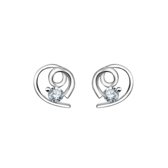 Just Gift Stud Earrings 3023 (Silver)