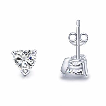 Just Gift Stud Heart Earrings 3057 (Silver) Small