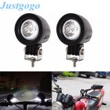 Justgogo 2pcs 10W Motorcycle LED Spot Light Driving Fog Lamp