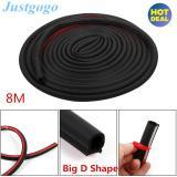 Justgogo 8M Big D Shape Car Door Edge Rubber Seal Trim Strip