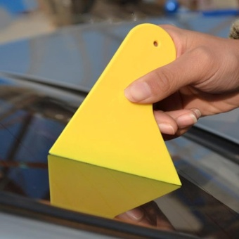 KANEED 10 PCS Car Window Wrapping Film Scraper Thickening Car Sticker Tool, Size: 11cm X 9.5cm(Yellow) - intl