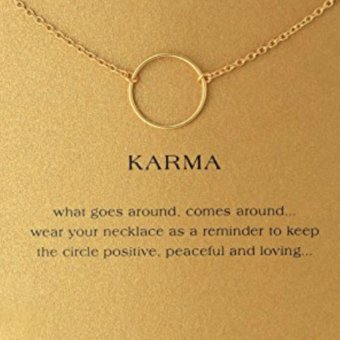 KARMA pendant necklace gold dipped 7g