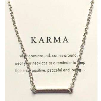 KARMA pendant necklace silver dipped 17g BUY 1 TAKE 1 - 2