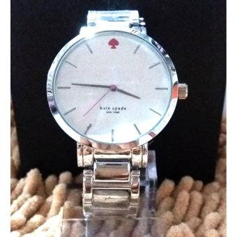 Kate Spade Round Women's Wrist Watch in Silver Tone With White Dial