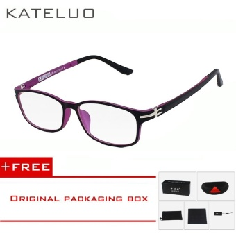KATELUO TUNGSTEN Computer Goggles Anti Fatigue Radiation-resistant Glasses Eyeglasses Frame Eyewear Spectacle Oculos 13028 (rose)[ free gift ]