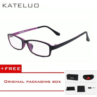 KATELUO TUNGSTEN Computer Goggles Anti Fatigue Radiation-resistant Reading Glasses Frame Eyeglasses 13021(Purple) [ free gift ]- intl