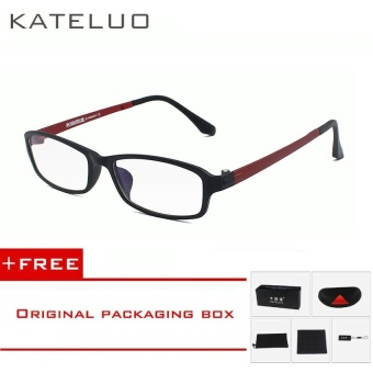 KATELUO TUNGSTEN Computer Goggles Anti Fatigue Radiation-resistant Reading Glasses Frame Eyeglasses 13021(Red)[ free gift ]- intl