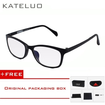 KATELUO TUNGSTEN Computer Goggles Anti Laser Fatigue Radiation-resistant Glasses Eyeglasses Frame Eyewear Spectacle Oculos 13031 (black)[ free gift ]
