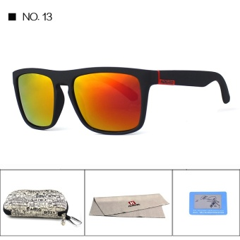 KDEAM Polarized Sunglasses 2017 Hot Men Sport Sun Glasses MetalHinges HD Polaroid lens Square Frame With Hard case 10 Colors KD156- intl