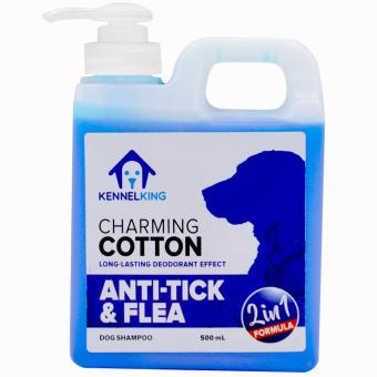 Kennel King Medicated Dog Shampoo 2 in 1 Charming Cotton Anti-Tickand Flea - 500ml