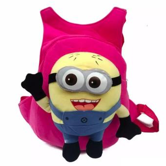 Kids Backpack with Toy Toddler Bag Children Fur Bag Soft Plush 3DStuffed Toy School Bag (Minion Toy) Price Philippines