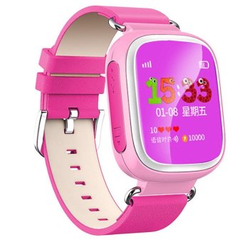 Kids Child Cute Smart Watch GPS AGPS LBS Tracker Anti-lost LocaterReal-time Monitor SOS Emergency Phone Calling Historical TrajectoryRemote Monitoring 1.44inches Large Screen Wrist Watch Gift foriPhone 6 6S Pink - intl