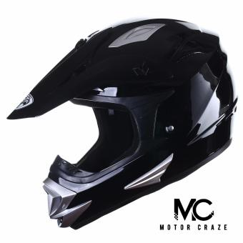 King Cobra K-101 Off Road Motocross Motorcycle Helmet (Black)