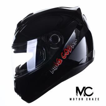 King Cobra K-691 A Full Face Motorcycle Helmet (Black)
