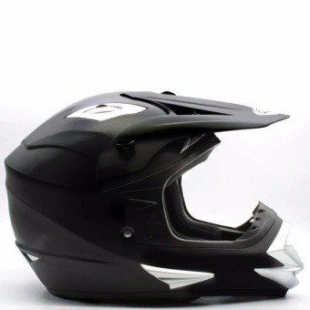 KING COBRA Motocross Motorcycle Helmet by Everstrong (Matte Black)With FlexiMoto Glasses - 4
