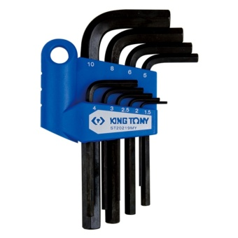 King Tony #ST20219MY, 9 PC. Hex Allen Key Set, 1.5-10mm