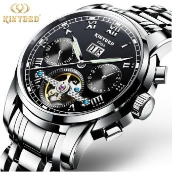 KINYUED Top Brand Mechanical Watch Luxury Men Business WatchsStainless Steel Band 3ATM Waterproof Calendar Function Mens FamousMale Watches Clock For Men Wrist Watch - intl