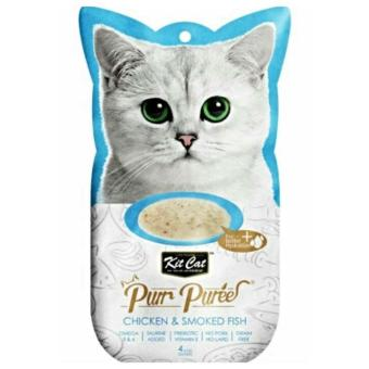Kit Cat Purr Puree Cat Treats Chicken and Smoked Fish Flavor(4x15g) Price Philippines