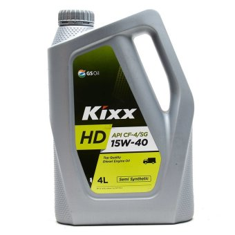 Kixx HD CF-4/SG 15W40 Top Quality Semi-Synthetic Diesel Engine Oil (4 Liters)