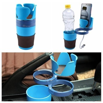 kobwa Adjustable Car Cup Holder 5 In 1 Car Cup Holder Adapter 3 360°Rotation Layers Create More Space For Collection Car Storage Cup - intl