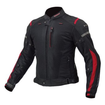 Komine JK-069 Air Stream Arius Mesh Riding Jacket (Black)