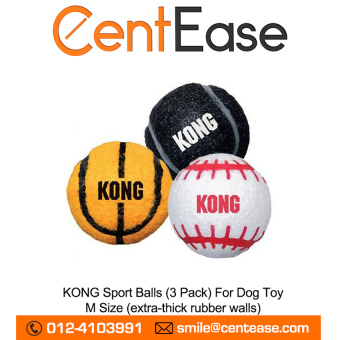 KONG Sport Balls (3 Pack) For Dog Toy - M Size (extra-thickrubberwalls) Price Philippines