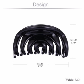 Korean Large Brand Black Hair Accessories Plastic Crab Jaw ClawsClips for Women Girls Long Hair Grip Acrylic Hair Jewelry - intl - 3