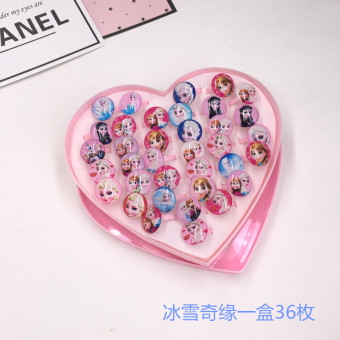 Korean-style children ring small heart-shaped gift box