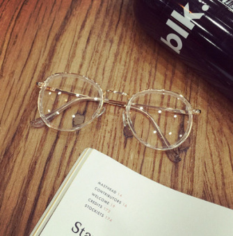 Korean-style female round lightweight glasses frame glasses Frame