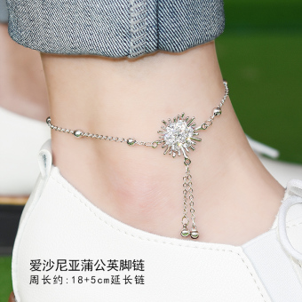 Korean-style female students rose gold anklets