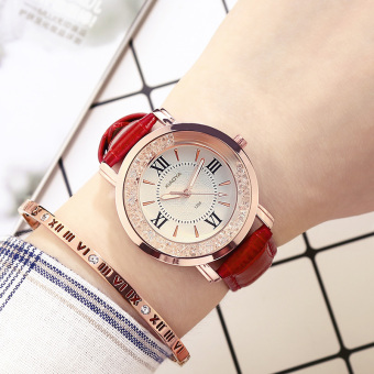 Korean-style leather belt waterproof Yeguang women's watch