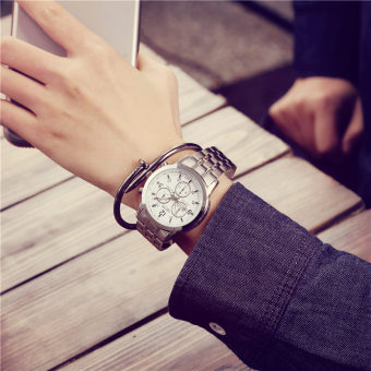 Korean-style men and women students waterproof couple's watches Men and Women Watch