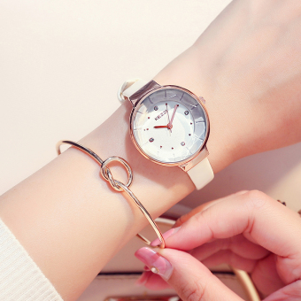 Korean-style women's waterproof fashion watch leather belt watch