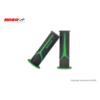 Koso Meteor Handle Grip (Black/Green) for Kawasaki Fury 125RR