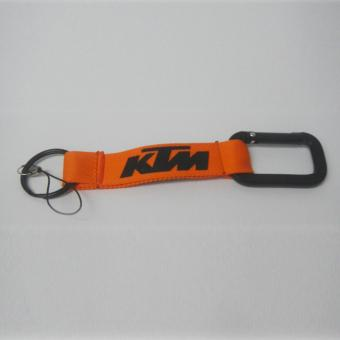 KTM Car Key Chain Polyester Logo Key Ring (Orange)