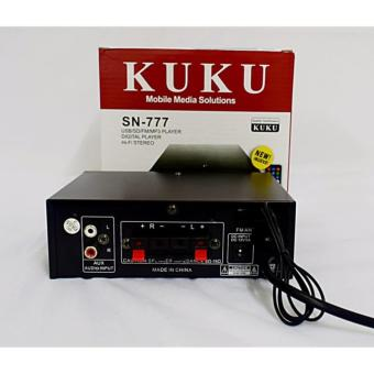 KUKU SN-777 2 Channel BLUETOOTH HI-FI Stereo Audio PowerAmplifier(Black)