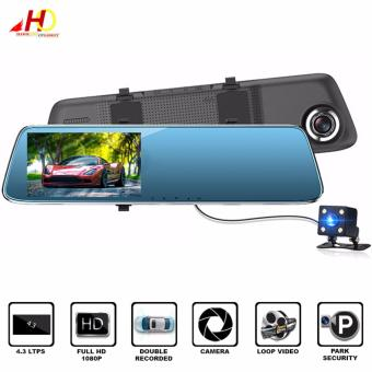L902 4.3 inch Full HD 1080P Display Night Vision High-definitionDual-lens Rear View Mirror Car Camera Video Recorder
