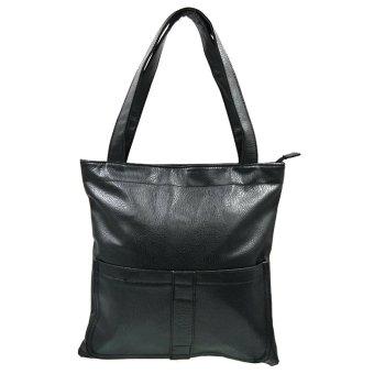 Ladies Leather Shoulder Bag 0898 (Black)