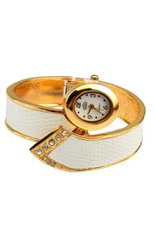 LADY Fashionable Style Bangle Watch White