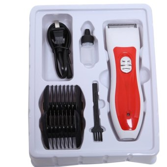 Lalang Pet Electric Hair Cutter Clipper Low Noise Shaver White+Red - intl