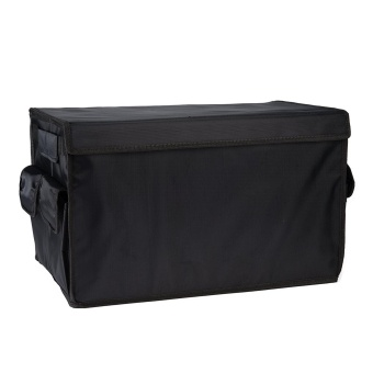 Lantoo Trunk Organizer Cargo Storage Waterproof Oxford Cloth for SUV Car Truck Travel Vocation Trip Camping Household Black - intl