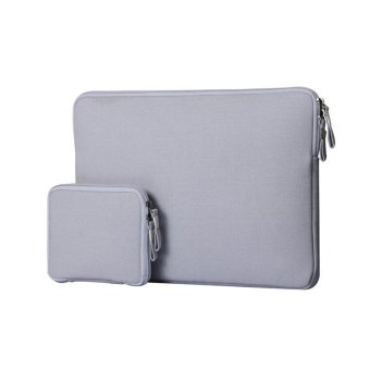 Laptop Notebook Sleeve Case Sailcloth Bag Cover for MacBook Air13.3 inch (Grey)
