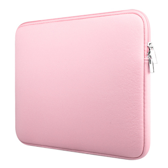 Laptop Protective Carrying Sleeve Protector Pouch Bag for Universal 15.6 inch Laptop Pink