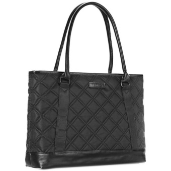 Laptop Tote Bag, DTBG 15.6 Inch Nylon Classic Diamond Pattern Travel Business Computer Shoulder Bag Carrying Briefcase Handbag For 15 - 15.6 Inch Laptop / Notebook / MacBook / Ultrabook /Tablet,Black - intl